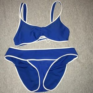 Aerie blue and white bikini